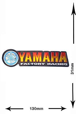 Autocollant Sticker - Yamaha - Factory Racing - 2 pieces - Metal effect - Decal - Car - Motorbike - Motocross - Bike - BMX - MTB - Scooter- Racing - Patch