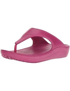 crocs Damen Sloan Platform Flip W Pltm Pantoffeln, Grau (Platinum 018), 38/39 EU