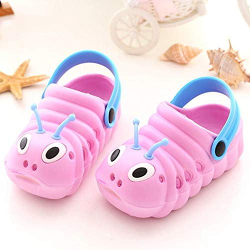Boomboom Baby'Shoes Toddler Little Kids Kids EVA Clogs Slide Sandals Non-Slip Summer Slippers Lightweight Beach Pool Water Shoes for Girls and BoyPink 23