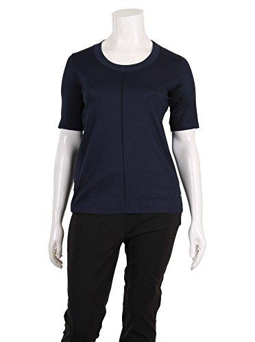 T-Shirt mit Ziernaht in dunkelblau in Übergrößen (42, 44, 46, ...