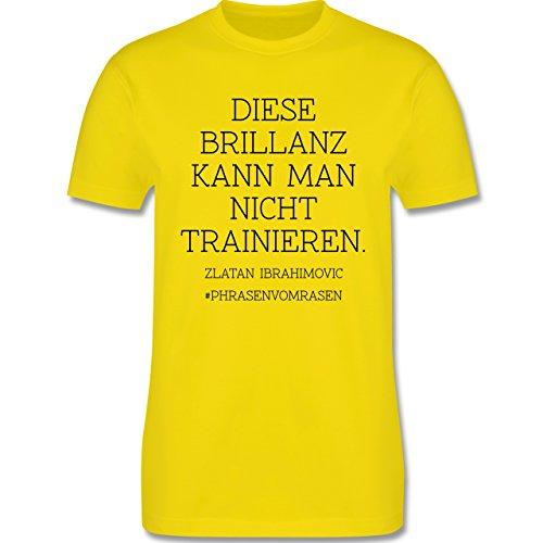 EM 2016 - Frankreich - Diese Brillanz kann man nicht trainieren - Herren Premium T-Shirt Lemon Gelb