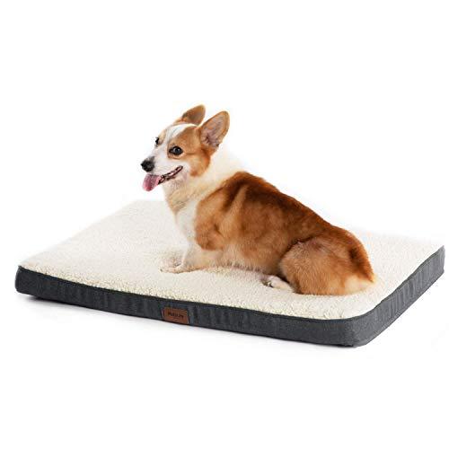 Bedsure Cama Perro Grande Ortopédica - Colchón Perro Lavable Verano L(91x68x7.6 cm) Desenfundable...