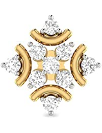 PC Jeweller 18k (750) Yellow Gold and Diamond Nose Pin