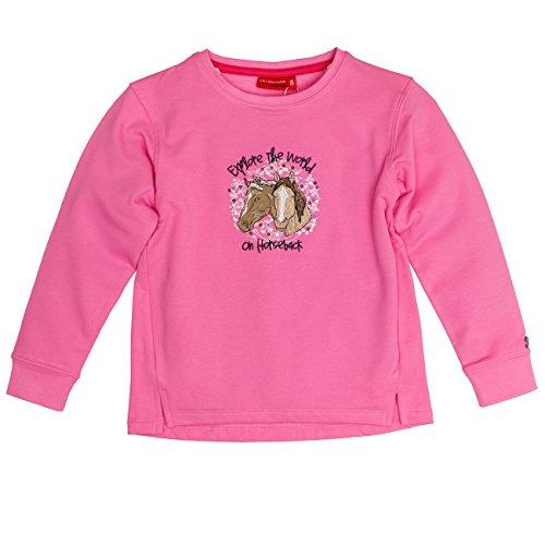 SALT AND PEPPER Mädchen Sweat Horses The World Sweatshirt, Rosa (Bubblegum Melange 833), 128