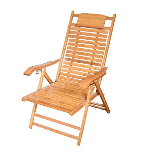 Bambus Set Klappstuhl (JFya Klappstuhl Sessel Bambus Schaukelstuhl faltbar Haushaltsschläfchen kühlen Stuhl Alter Mann Freizeit glücklich Stuhl Bambus Holz zurück Stuhl Bambus)