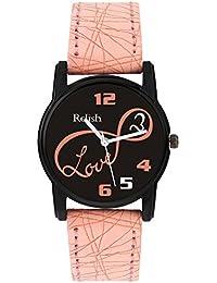 Relish Analog Black Dial Watches for Girls & Women RE-L090PB