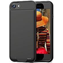 3000 mAh rechargeable case for iPhone 7/8 Ding Ding iPhone 7 batería caso con capacidad de 3000 mAh iPhone funda de batería externa de 8 (negro, 4.7 inch)