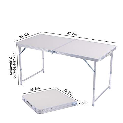 Tavoli Da Giardino Self.Sunreal Tavolo Pieghevole In Alluminio Portatile Da Campeggio Tavolo