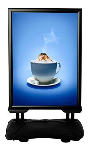 Kundenstopper Plakatständer WindPro DIN A1 für PLAKATE mit 594 x 841 mm. Wetterfester...