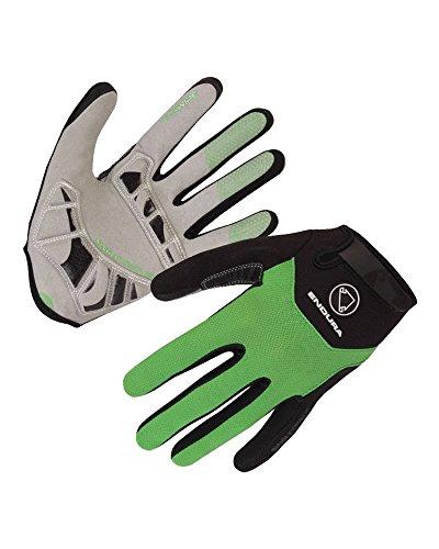 ENDURA SingleTrack Plus Gloves, Color Verde, Talla S