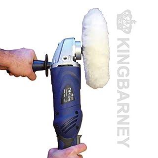Kingbarney XXL Profiset - Poliermaschine 1600 Watt Set 3 - digitales Display - mit Koffer + Polierschwamm Zubehörset - 27 Teile - Auto polieren
