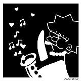 Simpsons, the Simpsons-Movie-Movie heroes, Bilderrahmen, Mädchen, Lisa cm (21 x 21 cm, erhältlich in 18 Farben, Badezimmer, Kinderzimmer, Kindern Raum Aufkleber, Vinyl, Fenster, Wandtattoo, Wall ThatVinylPlace Wandtattoo, Windows,