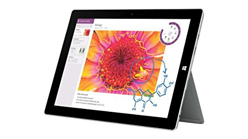Microsoft Surface 3 Tablet PC (10.8 Zoll (27,43cm) ClearType Full-HD-Plus Display, Intel Atom X7-Z8700 Quad-Core, 64GB Speicher, 4GB RAM, Windows 10) Bundle inklusive Type Cover 3, Pen und Surface Mouse