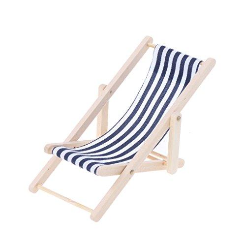 Dabixx Puppenhaus-Zubehör Sonnenliegen, Maßstab 1:12 Beach Sunbathing Chair Puppenhaus Miniatur...