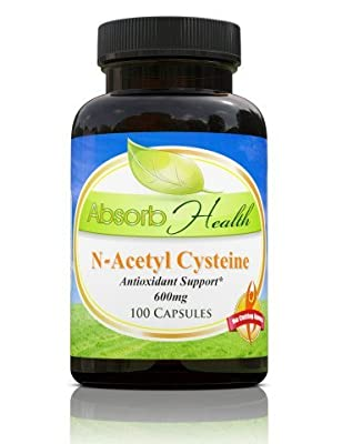 NAC N-Acetyl Cysteine | 600mg 100 Capsules | Glutathione Precursor Key Antioxidant | Liver Detox Supplement