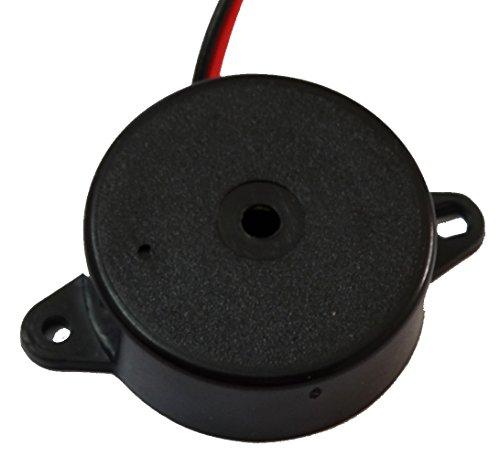 Aerzetix - Summer Buzzer für vergessen Scheinwerfer Kontrollleuchte Blinker akustisches oder Vorrichtung 1.5-30 3V 6V 12V 24V 80dB 24 x 9.5 mm