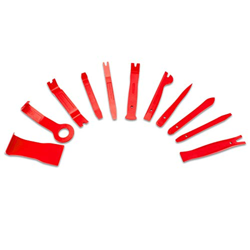 Fahrzeug Innen-Verkleidung Demontage Zierleisten Polsterung Montage-Keile Zierleistenkeil Cliplöser 11 tlg CDWIV-14 - 6