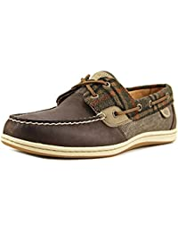 Sperry Mujeres Seabrook current Punta Abierta Casual Piel Chanclas, Navy, Talla 8