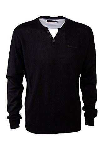 pierre-cardin-mens-new-season-mock-y-neck-knitwear-2xl-black