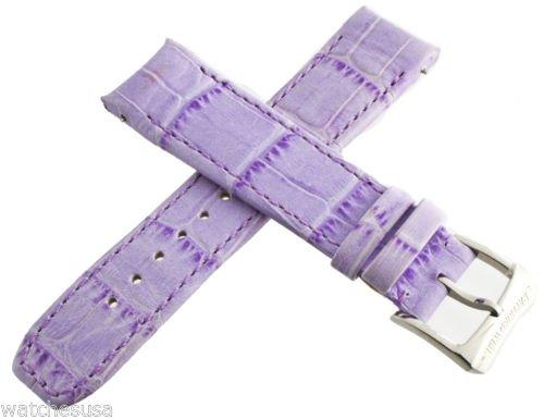 Echt Raymond Weil 20mm Lila Leder Uhrenarmband 5590