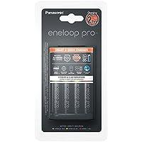 Panasonic eneloop pro, Intelligentes Schnellladegerät mit 4x eneloop pro AA, für 1-4 Ni-MH Akkus AA/AAA