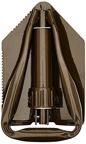 10T Mini-Spade BW Klappspaten mit Säge Outdoor Spaten Feldspaten Schaufel mit seitlich eingefräßten Sägezähnen, 2-fach klappbar
