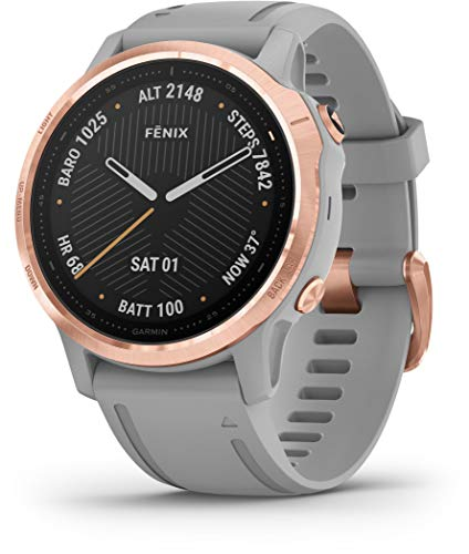 Garmin Fenix 6S Sapphire Multisport GPS Smartwatch Grey/Rose Gold 2020 Pulsmessgerät