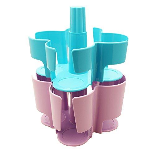T-disc Carousel (Tassimo Koziol Carousel / Karussel T-Disc Halter, 2-tlg., für 40 T-Discs, Kaffee Kapselhalter, Kunststoff, Türkis / Lila)