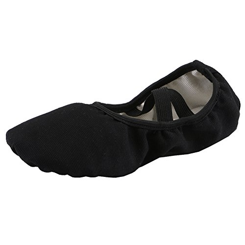Ballettschläppchen Mädchen Ballerinas Tanzschuhe Damen Ballettschuhe Kinder Ballett Trainings Schläppchen Schuhe Schwarz Größe ()