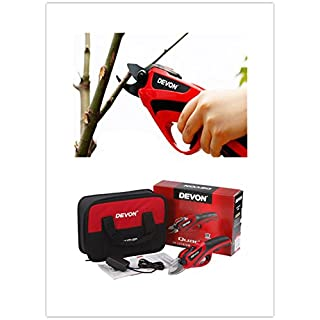 Cordless Garden Shears with Rechargeable Lithium Battery, Pruner for Olive Trees, Plum Trees, Grape Vines, Electric Shears for Pruning, Bonsai, Garden, Trees, Flowers