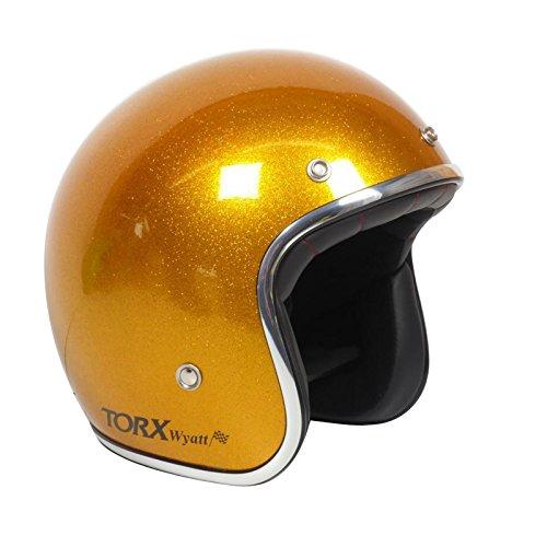 TORX Casco Moto Wyatt, Glitter Yellow, taglia XS