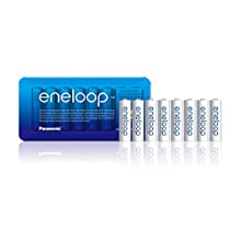 Panasonic eneloop AA Rechargeable Ready-To-Use Ni-MH Batteries , Pack of 8. (BK-3MCCE/8LE)