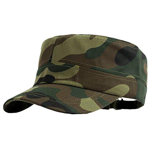 Camouflage Military Style Cap (JINTN Unisex Cap Camouflage Armycap aus Baumwolle flachen Baseballcap Fullcap im Military Style)