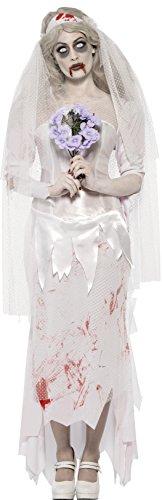 Imagen de smiffy's  disfraz de zombi novia para mujer, talla m 23295m  alternativa