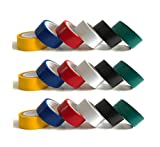 Melchioni Set di 18 Rotoli di Nastro isolante in PVC in sei colorazioni differenti - Scotch isolante elettrico - 380035024