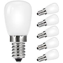... día blanco 6000 K 200LM, equivalente a bombilla incandescente de 20 – 25 W, rosca Edison pequeña E14 pigmea bombilla para frigorífico/lámpara ...