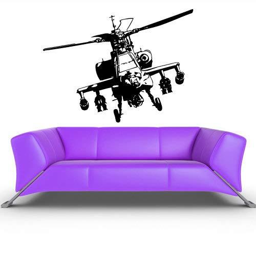 Milit?rhubschrauber Wall Decal Chopper Aufkleber Copter Autogiro Dekor Schneebesen Raumdekorationen Whirlybird Kunst Vinyl Grafiken Home Boys Z325 (Kid Schneebesen)