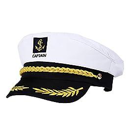 BESTOYARD Costume da Marinaio Regolabile Cappello da Marinaio Cappello da Marinaio Capitano Cappello Adulto Costume da…