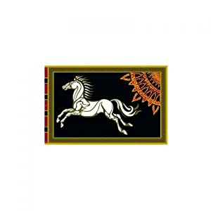 Noble Collection fpl3020N-El Señor de los anillos Bandera de Rohan