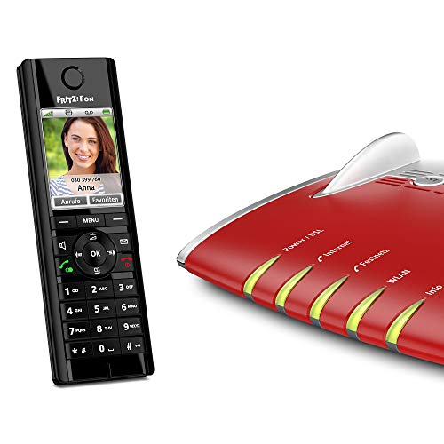 Set AVM FRITZ Fon C5 DECT-Komforttelefon für FRITZ Box und AVM FRITZ Box 7490 WLAN AC + N Router