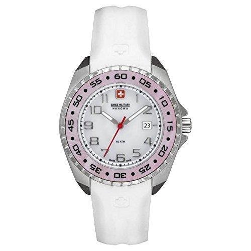 Swiss Military Hanowa - Reloj analógico de cuarzo para mujer con correa de silicona, color blanco