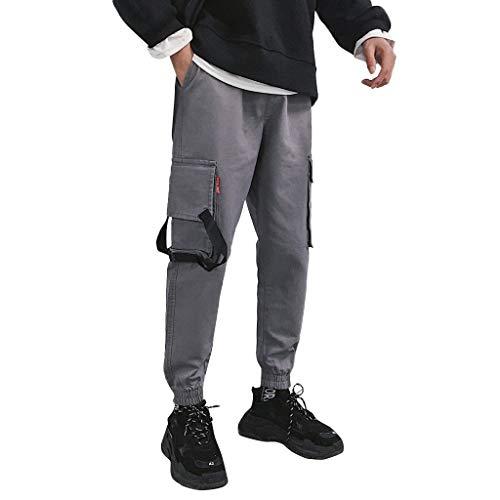 ODRD Herren Tactical Pants Workout JeansMens Herbst Winter Mode lässig Overall lockere kleine Füße lose Hosen Hose Jogging Pants Jogginghose Sweatpants Sport