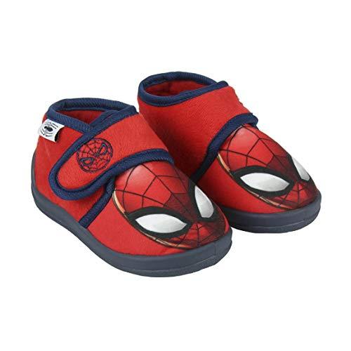 Cerdá Zapatillas De Casa Media Bota Spiderman, Niños, (Rojo C06), 23 EU