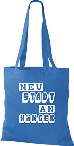 Shirtstown Stoffbeutel lustige Sprüche Neustadt Anhänger viele Farben royal