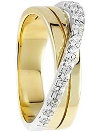 Diamond Line Damen - Ring 585er Gold 13 Diamanten ca. 0,50 ct., gelbgold