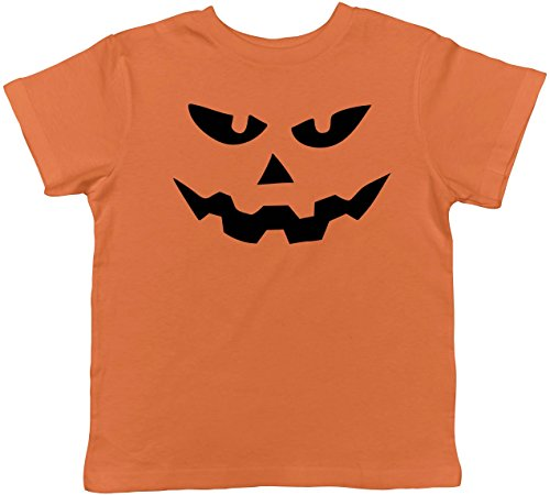 Crazy Dog TShirts - Toddler Triangle Nose Pumpkin Face Funny Fall Halloween Spooky T shirt (Orange) 3T - baby-jungen - (Witz Nette Kinder Halloween)