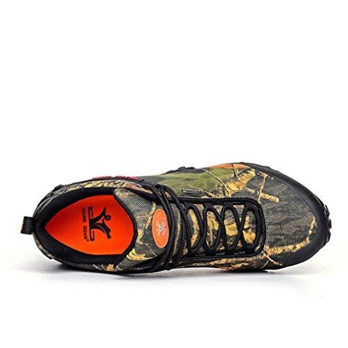 Xiang Guan Herren Camo Wasserdicht Atmungsaktiv Outdoor Schuhe Funktions Sport Trail Trekking Wanderhalbschuhe Desert Camo
