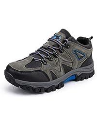 ACVXZ Zapatos de Senderismo para Hombres al Aire Libre otoño bajo para Ayudar a los Zapatos