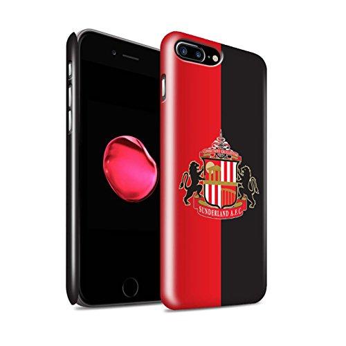 Offiziell Sunderland AFC Hülle / Glanz Snap-On Case für Apple iPhone 7 Plus / Weiß Muster / SAFC Fußball Crest Kollektion Rot/Schwarz