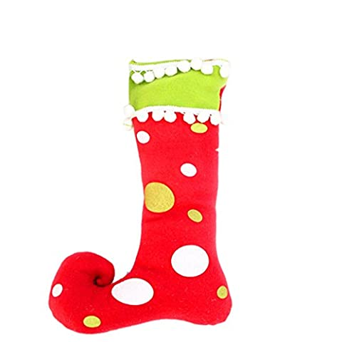 Christmas Xmas Elf Spirit Boot Shoe Chaussette Candy Gift Bag Sack Stocking Filler 16x27x38cm Aeroty